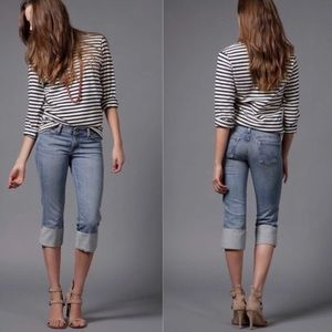AG the Shorty Cropped Cuffed jeans